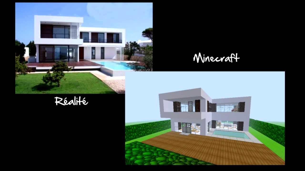 visite maison moderne minecraft youtube. Black Bedroom Furniture Sets. Home Design Ideas