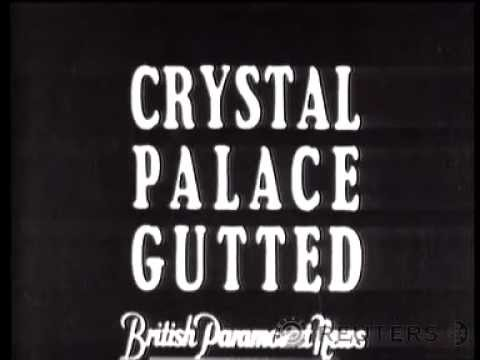 Crystal Palace Destroyed by Fire in 1936