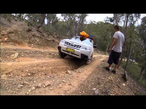Tobey in Subaru Forester 4WDing in Abercrombie National Park