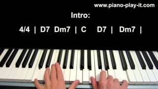 Bruno Mars When I Was Your Man Piano Lesson how to play