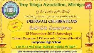 Diwali Celebrations at Michigan, USA | Troy Telugu Association