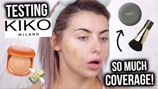 SO FULL COVERAGE!? TESTING NEW KIKO MAKEUP! FIRST IMPRESSIONS + REVIEW!