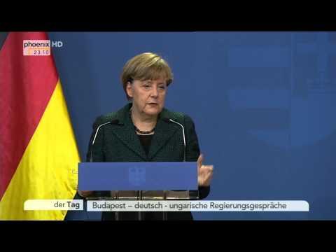 Budapest: PK von Angela Merkel und Viktor Orbán am 02.02.2015