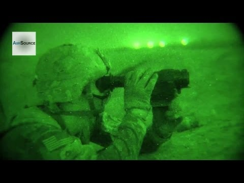 Night Vision Cam - U.S. Army Scouts Night Operations, Kandahar Airfield