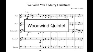 We Wish You a Merry Christmas - for Wind Quintet - Arr. Clark Cothern (1957 -  ) [BMI]