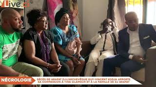l'archevêque Guy Vincent Kodja apporte sa compassion à Tina Glamour et à la famille de DJ Arafat