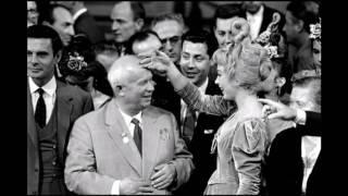 Nikita Khrushchev in the USA trip in 1959
