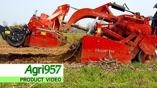 GRAMEGNA SPADING MACHINE and POWER HARROW - VANGATRICE con ERPICE ROTANTE | PREPARATION in 1 PASS