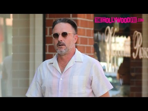 David Arquette Briefly Spotted Walking To His Car In Beverly Hills 7.20.16 - TheHollywoodFix.com