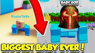 BECOMING THE BIGGEST BABY POSSIBLE IN BABY SIMULATOR!! (Roblox)