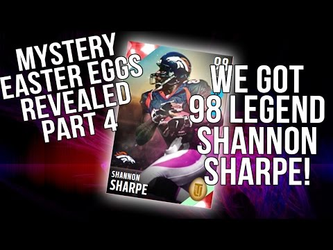 Easter Eggs Revealed! We Got Easter Legend 98 Shannon Sharpe! ::-XBOX ONE Madden 16 Ultimate Team