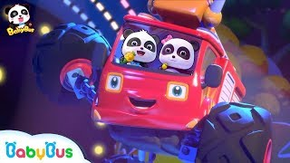 Fire Truck's Rock Party | Monster Car Band | Monster Truck Rescue Team | BabyBus