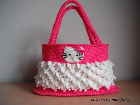 Download Video How To Crochet Hello Kitty Purse Bag Free Tutorial