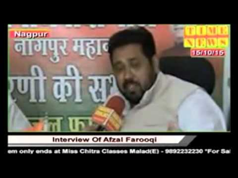 TIME NEWS :- INTERVIEW OF AFZAL FAROOQI IN NAGPUR 16/10/2015