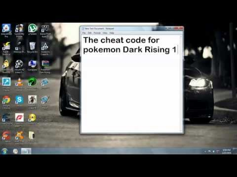 POKEMON DArk RiSiNg 2 ChEaT code