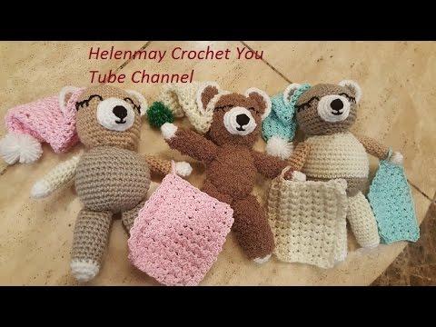 Crochet Quick Easy Charity Sleepy Bear Part 1 of 2 DIY Tutorial