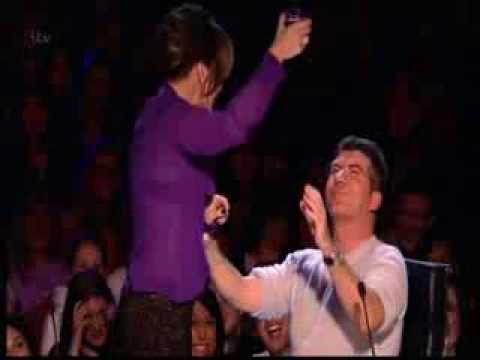 Amanda Holden Pours Water Over Simon Cowell - Britain's Got Talent 2013