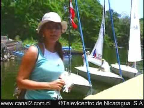 Sailing LAKE NICARAGUA Segeln Voile Vela Velero with Cristiana Frixione