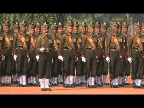 Armed pageantry and precision at the Changing of the Guard - Rashtrapati Bhavan, Delhi