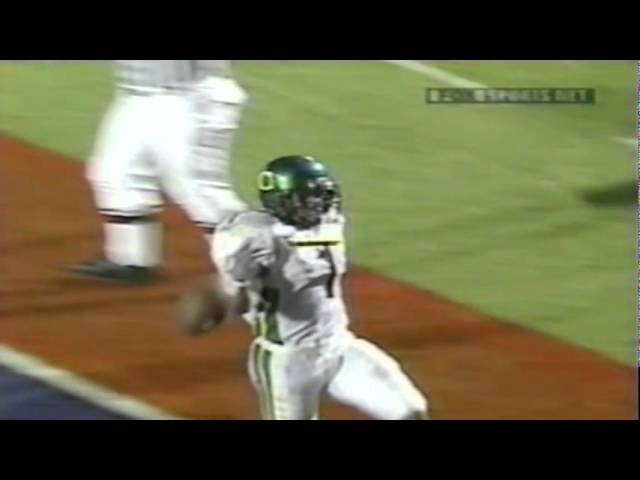 Oregon WR Samie Parker 38 yard touchdown catch vs. Arizona 10-06-2001