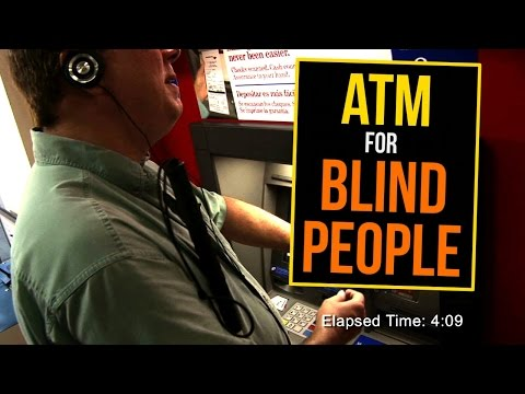 How Blind People Use The Atm video
