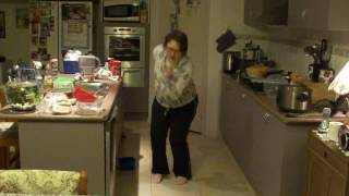 Mum dancing to Jersey boys in the kitchen (four seasons)