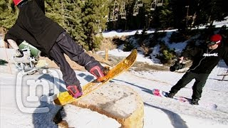 Recycled Christmas Tree Snowboards! Every Third Thursday