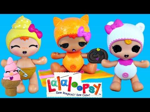 LALALOOPSY Naming and PLAY DOH Matching Treats Playdough Ice Cream Helado de Plastilina