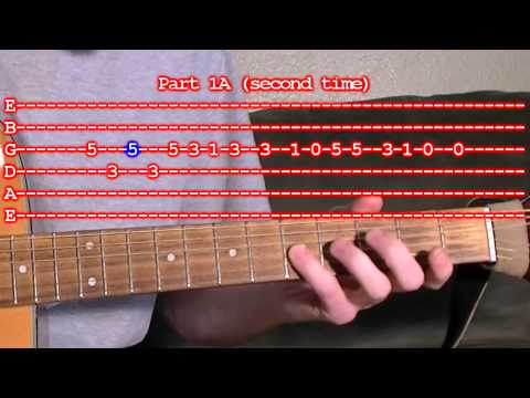 Oompa Loompa Song Guitar Lesson with Tabs - Easy Version