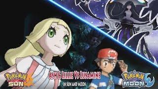 Pokemon Sun and Moon: Alola Ash and Lillie Vs Lusamine (Pokemon Ultra Beast Movie)