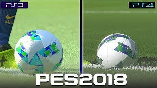 PES 2018 | PS3 vs PS4 (COMPARACIÓN GRÁFICA Y GAMEPLAY)