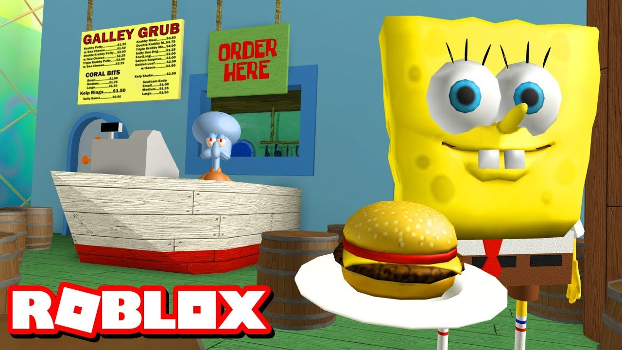 ESCAPE THE KRUSTY KRAB OBBY!!   Roblox Adventures