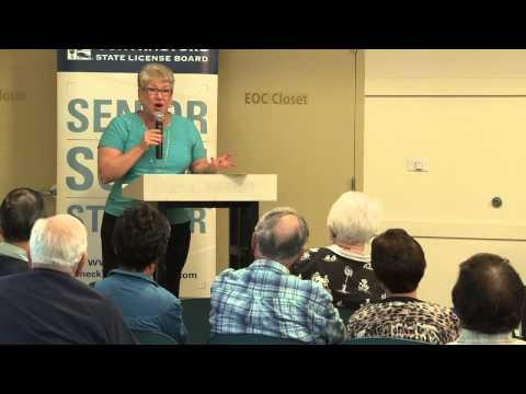 Senior Scam Seminar - Millbrae - Segment : Deborah Owdom, Seniors Against Investment Fraud