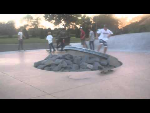 Skateboarding with Longboards (St.Cloud Skate Plaza)