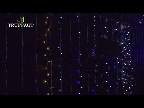rideau grappe guirlande lumineuse jardinerie truffaut tv youtube. Black Bedroom Furniture Sets. Home Design Ideas