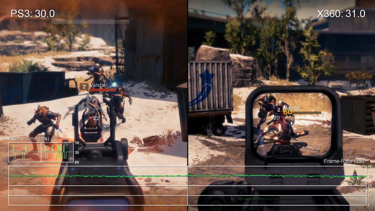 Destiny beta xbox 360 vs ps3 frame rate test youtube