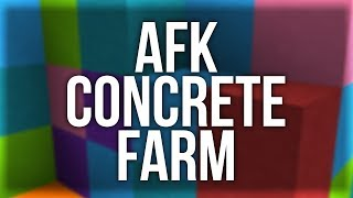 How to Build an AFK Concrete Farm in Minecraft