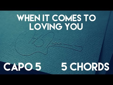 How To Play When It Comes To Loving You by Jon Langston | Capo 5 (5 Chords) Guitar Lesson MP3
