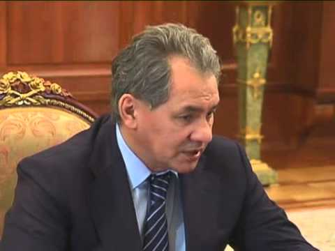 Jan 29, 2013 Russia_Defense Minister Shoigu presents new defense plan to Putin