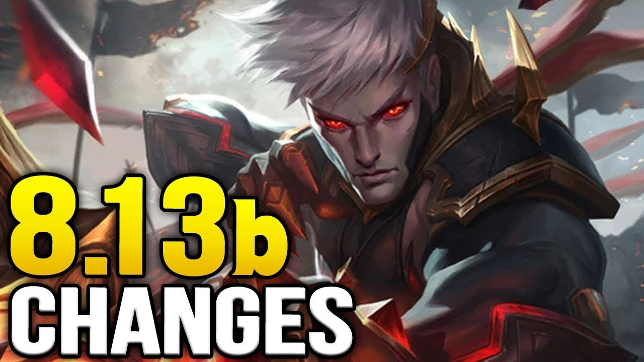 New changes in Patch 8.13b and coming soon for 8.14