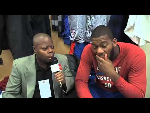 Detroit Pistons  Center Greg Monroe discusses new yrs resolution to read Bible more.