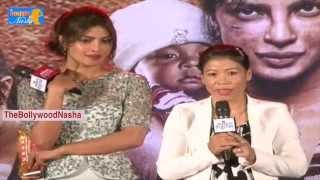 Priyanka Chopa & Mary Kom emotional - funny sch @ Mary Com Movie Promotion