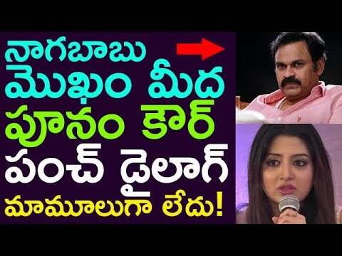 Poonam Kour Gave Strong Punch On Nagababu Face !! || Taja30