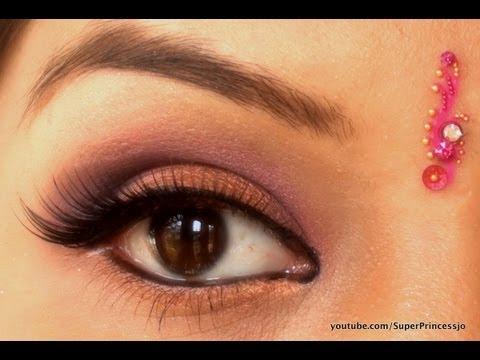 Bollywood Indian Bridal Wedding Pink Purple Bronze Eye Makeup SuperPrincessjo