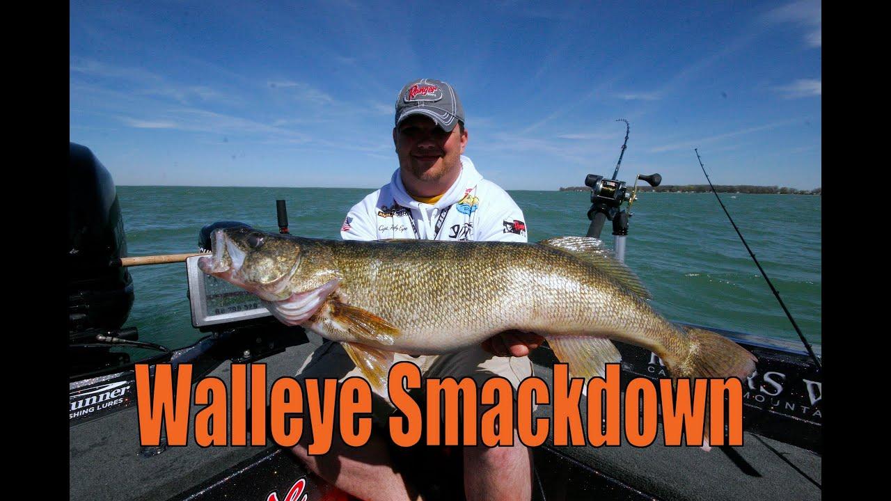 Lake erie trophy walleye youtube for Lake erie fishing