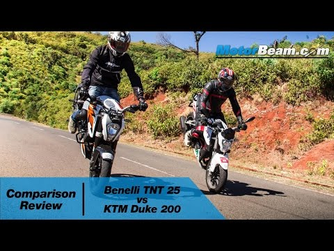 Benelli TNT 25 vs KTM Duke 200 - Comparison Review   MotorBeam