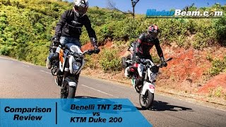 Benelli TNT 25 vs KTM Duke 200 - Comparison Review | MotorBeam