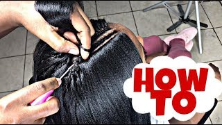 #296. PERFECT INVISIBLE PART CROCHET WITH STRAIGHT HAIR