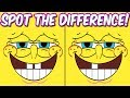 Photo Puzzles #2 Spongebob Squarepants | Spot the difference Brain Games for Kids | Child Friendly