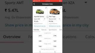 Hyundai New Santro Sports Automatic vs Tata Tiago XZA Automatic
